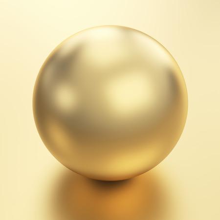 Beautiful golden sphere Stock Photo - 25587630