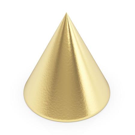 Golden 3d cone  photo