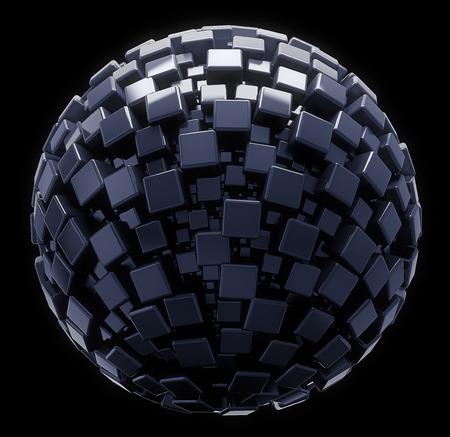3D geometric sphere   photo