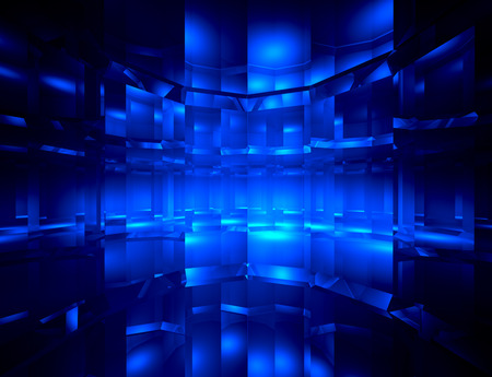Abstract blue digital space background  photo