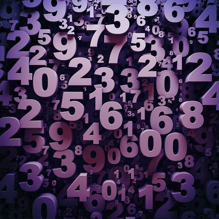 3 D 数字の抽象背景