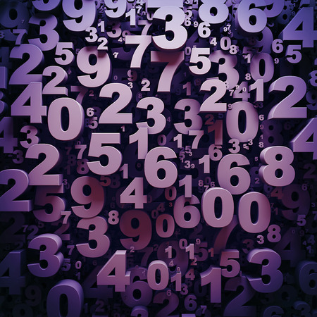 Abstract 3D numbers background
