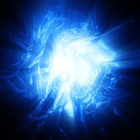 Glanzende blauwe plasma achtergrond