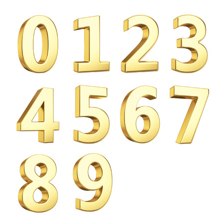 numero nueve: Números 3D Foto de archivo