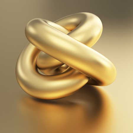 golden 3d torus model  photo