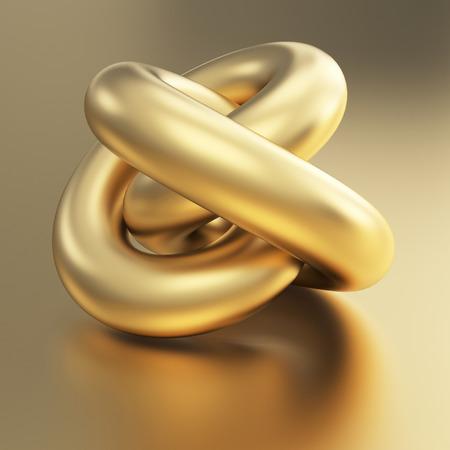 3d weird: golden 3d torus model