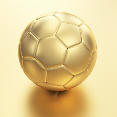 Beautiful golden football photo