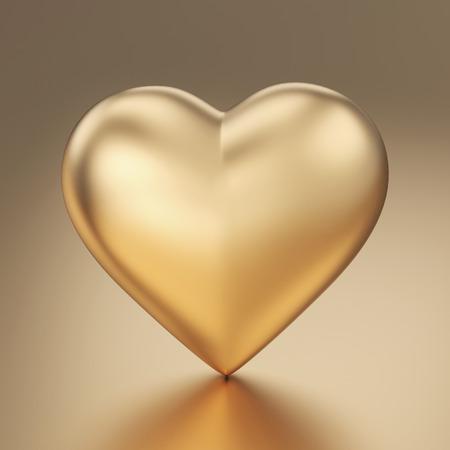 Gouden hart 3d render