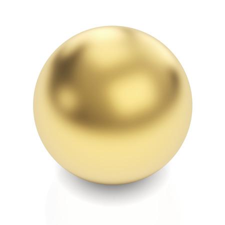 Golden sphere 3d render