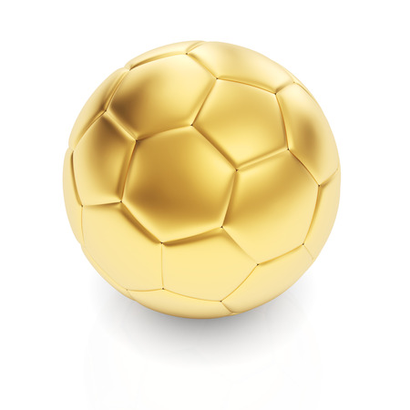 Golden football   Stock Photo - 24117228