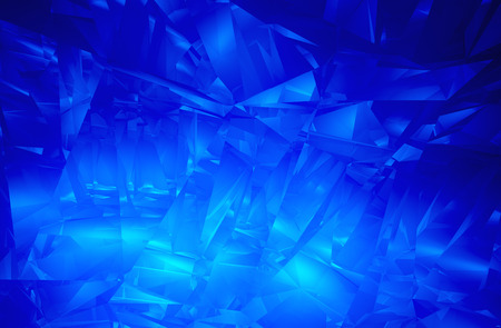Abstract blue facet background   Stock Photo