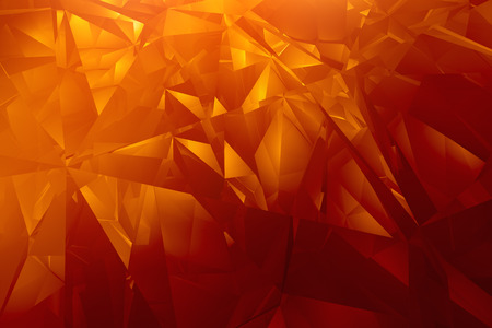 Shiny orange facet background  photo