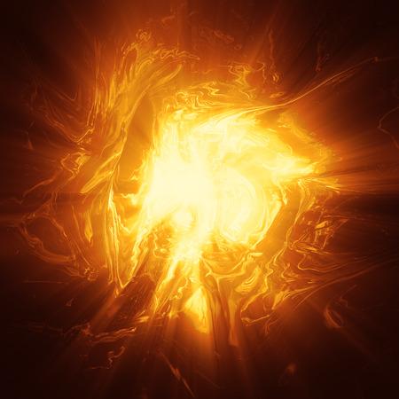 Oragne プラズマ エネルギー バック グラウンド コンピューター生成図