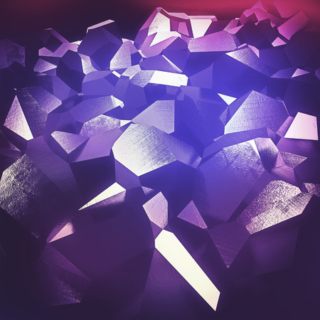 refraction of light: Beautiful abstract purple crystals background