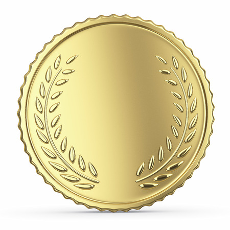 Blank golden medal Фото со стока