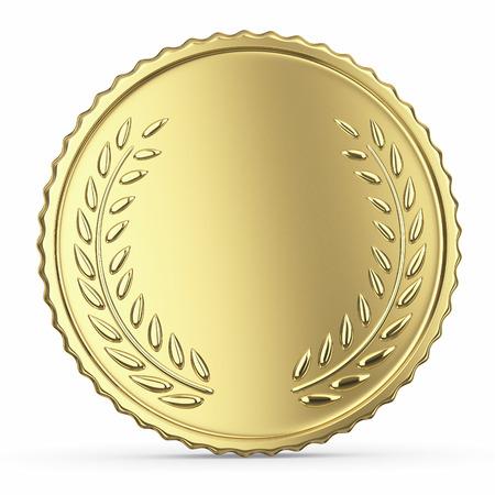 Blank golden medal Stock Photo