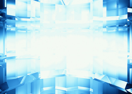 Abstract blue facet background with space for text