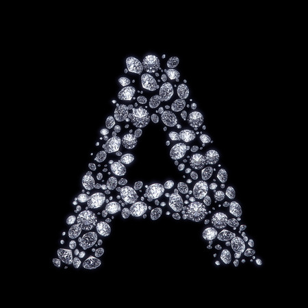 3D Diamond letter A   photo