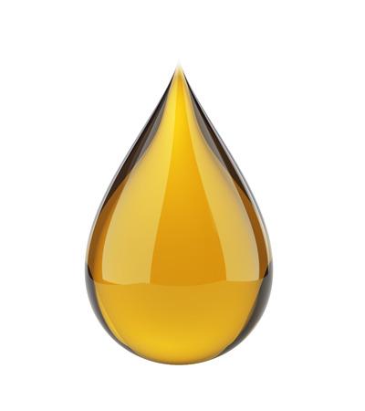 Oil drop on white