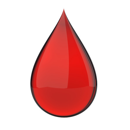 clean blood: 3D red blood drop