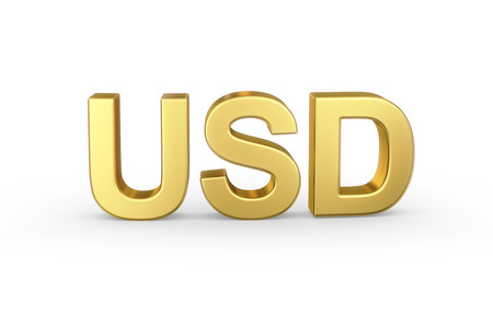 usd: Golden 3D USD currency