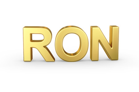ron: Golden 3D RON currency
