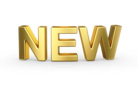 3D gouden NEW woord Stockfoto - 25588368
