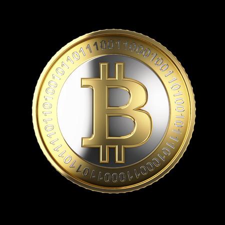 Golden Bitcoin digitale valuta Stockfoto - 25589052