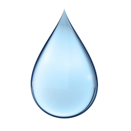 3D water druppel op wit Stockfoto - 25588597