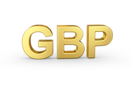 gbp: Golden 3D GBP currency