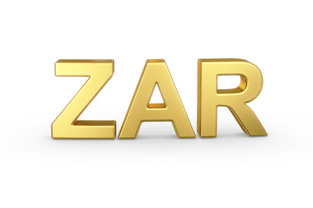Golden 3D ZAR currency   photo