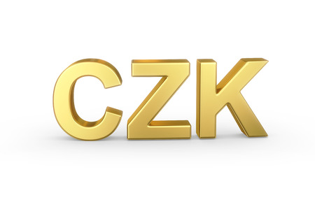 Golden 3D CZK currency  photo