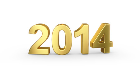 3D golden 2014 year  photo