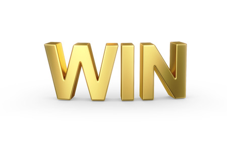 lottery win: 3D golden WIN word