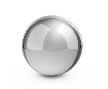 Metal sphere render on white  Stock Photo