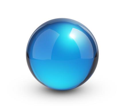 Blauwe glazen bol Stockfoto