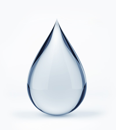 3D Wasser Tropfen auf weiß Standard-Bild - 25588847