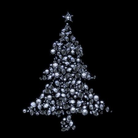 Abstracte luxe diamant kerstboom Stockfoto - 25588851
