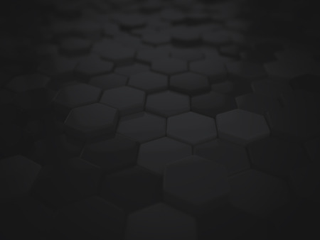 Abstract black 3D hexagonal background
