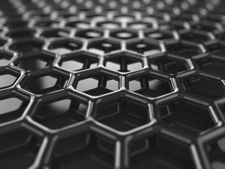 Abstracte zwarte heaxagonal koolstof achtergrond