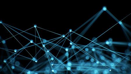 Abstrakcyjna sieci Internet koncepcji komunikacji tła - CG renderowania