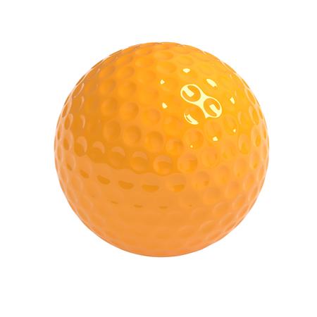 Geïsoleerde golfbal met het knippen van weg Stockfoto - 45136338