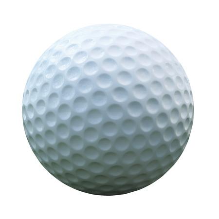 Geïsoleerde golfbal met het knippen van weg Stockfoto - 45235729