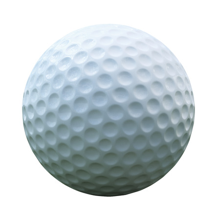 Isolated golf ball with clipping path Foto de archivo