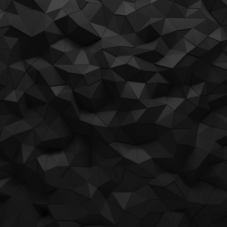 facet: Abstract black 3D geometric polygon facet background mosaic made by edgy triangles