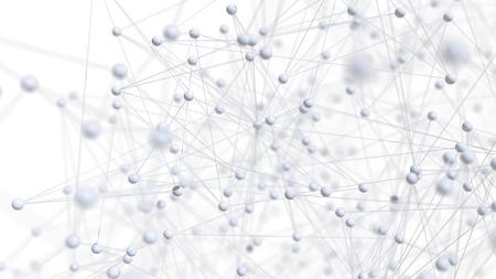 Abstracte netwerk molecule achtergrond - 3d visualisatie Stockfoto - 45138191