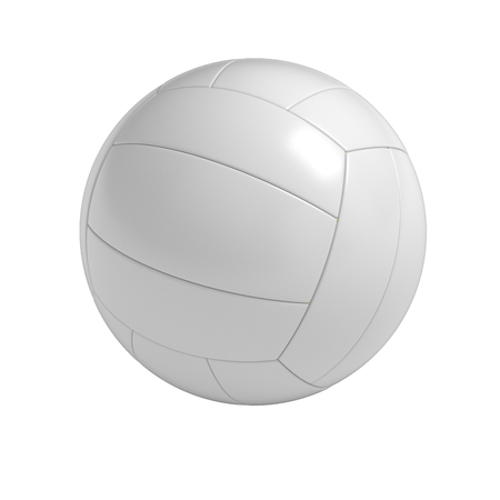 Blanco volleybal bal geïsoleerd met het knippen van weg Stockfoto - 45138289