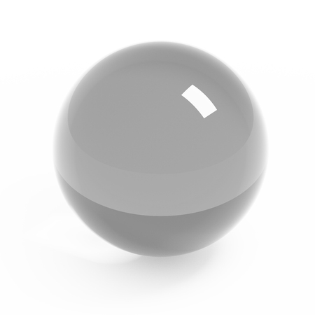 clear path: Glass clear sphere isolated on white with clipping path