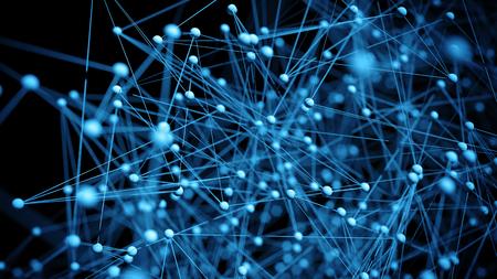 추상 네트워크 분자 배경 - 3D 시각화 스톡 콘텐츠