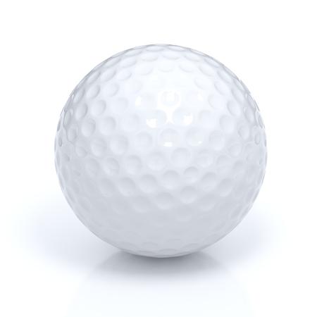 Geïsoleerde golfbal met het knippen van weg Stockfoto - 45142020